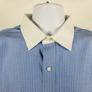 Brooks Brothers Non Iron Blue Striped French Cuff